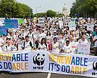 Participants of the Peoples Climate March in Washington, DC.